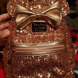 Loungefly rose gold backpack!
